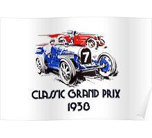 Retro vintage classic Grand Prix 1938 Poster