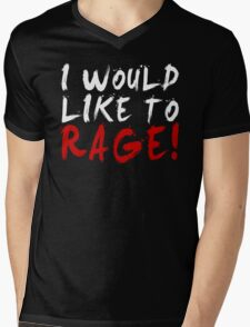 I WOULD LIKE TO RAGE!!! - Grog Strongjaw (White) Mens V-Neck T-Shirt