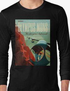 Mars Travel Poster Long Sleeve T-Shirt