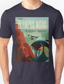 Mars Travel Poster Unisex T-Shirt