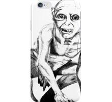 Gollum pencil sketch iPhone Case/Skin