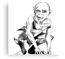 Gollum pencil sketch Metal Print