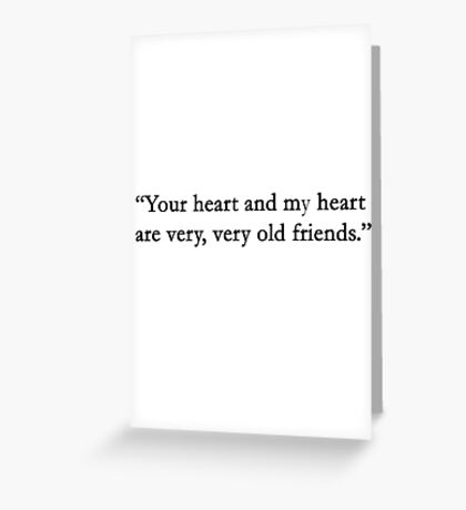 You heart.... Greeting Card