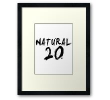 Natural 20 (Black) Framed Print