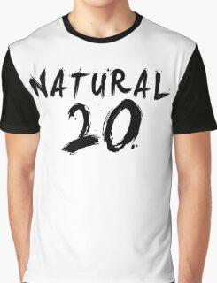 Natural 20 (Black) Graphic T-Shirt