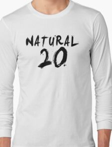 Natural 20 (Black) Long Sleeve T-Shirt