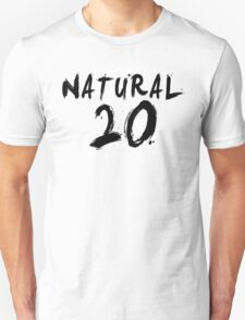 Natural 20 (Black) Unisex T-Shirt