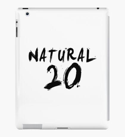 Natural 20 (Black) iPad Case/Skin