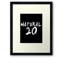 Natural 20 (White) Framed Print