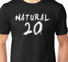 Natural 20 (White) Unisex T-Shirt