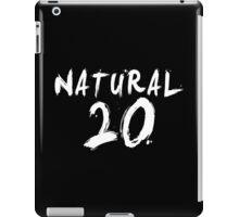 Natural 20 (White) iPad Case/Skin