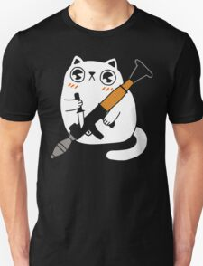 Cuddly Combat Cat Unisex T-Shirt