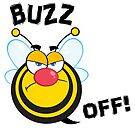 Funny Buzz Off Atitude Bee by doonidesigns