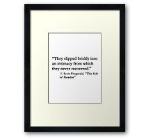 They slipped briskly.... Framed Print