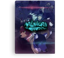 Arlanora - Together with Logo Canvas Print
