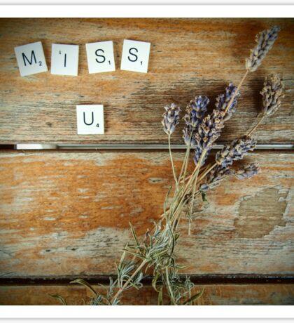 Miss u Sticker
