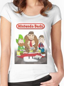Nintendo Dads by Adam Leonhardt Women's Fitted Scoop T-Shirt