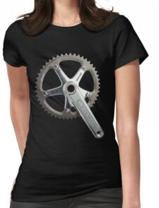 Silver Omni Crank Womens Fitted T-Shirt