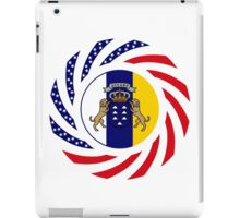 Canarian American Multinational Patriot Flag Series iPad Case/Skin