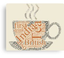 History of Tea  Canvas Print