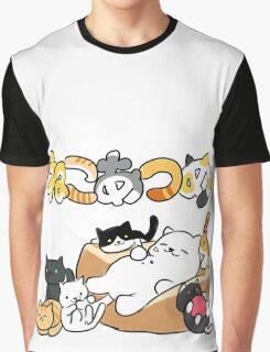 Neko atsume - Tubbs cat & more - Neko Graphic T-Shirt