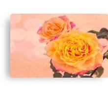 Bursting Of Beauty Orange Roses Canvas Print