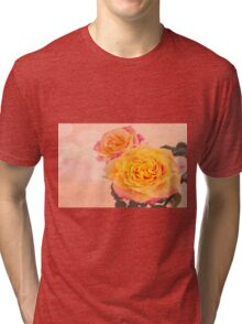 Bursting Of Beauty Orange Roses Tri-blend T-Shirt