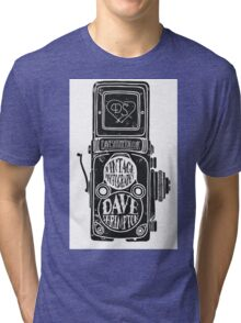 Dave Shrimpton Photography  B&W logos Tri-blend T-Shirt