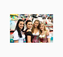4 gorgeous young women at German funfair Unisex T-Shirt