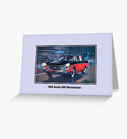 Classic British car 1959 Austin A99 Westminster Greeting Card