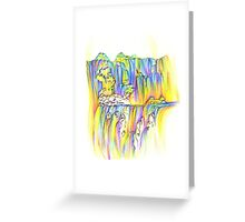 Aurora Waterfall Greeting Card