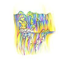 Aurora Waterfall Photographic Print