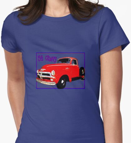 54 Chevy Pickup Acme of an Age Womens Fitted T-Shirt