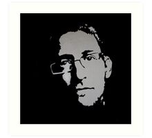 EDWARD SNOWDEN - LIFE CURRENT WALL series... Art Print