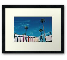 Palms by the Pool (Palm Springs) Framed Print
