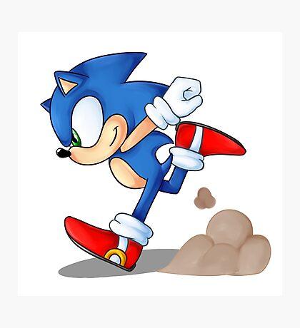 Sonic Runner Photographic Print