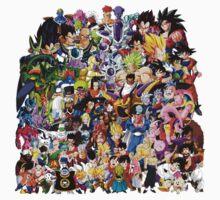 Dragon Ball Z - Insane amount of Characters Kids Tee
