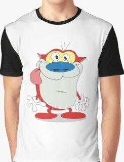 "Stimpson ""Stimpy"" J. Cat Graphic T-Shirt"