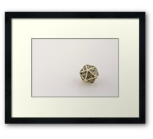 Steampunk D20 Framed Print