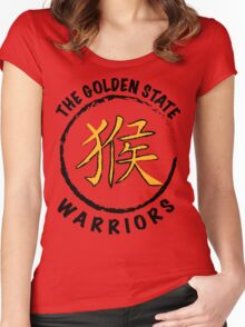 Chinese New Year Golden State Warriors Women's Fitted Scoop T-Shirt