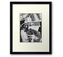 Dish Pit Framed Print