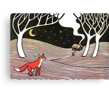 Stargazing - Fox in the Night Canvas Print