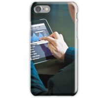 Closeup of a businessman accessing his digital tablet PC iPhone Case/Skin
