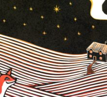 Stargazing - Fox in the Night Sticker
