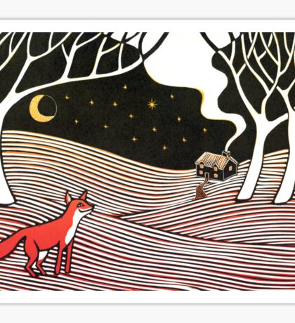 Stargazing - Fox in the Night Sticker
