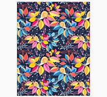 graphic seamless pattern of colored leaves and snails Classic T-Shirt
