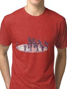 New York Islanders Yes Yes Yes chant Tri-blend T-Shirt
