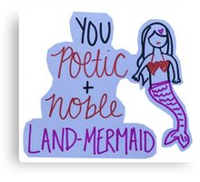 Leslie Knope Land Mermaid Quote Canvas Print