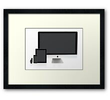 Multiscreen - Apple Watch, iPhone, iPad and iMac screens  Framed Print