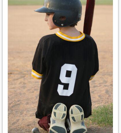Boy Waiting To Bat Sticker